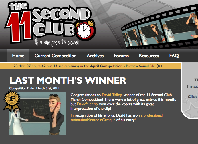 11 Second Club Winner