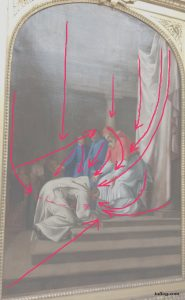 Study of Saint Bruno bowing to Pope Urban II